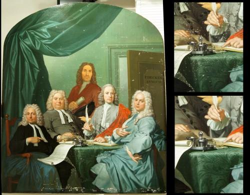 Restauratie schilderij Hofje van Staats