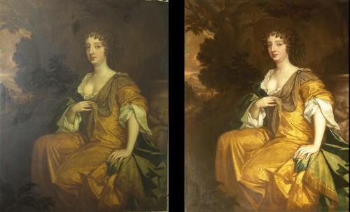 Duchess off Richmond, Lely - voor en na behandeling
