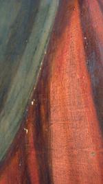 schilderijenrestauratie - na consolidatie en vlakken verf