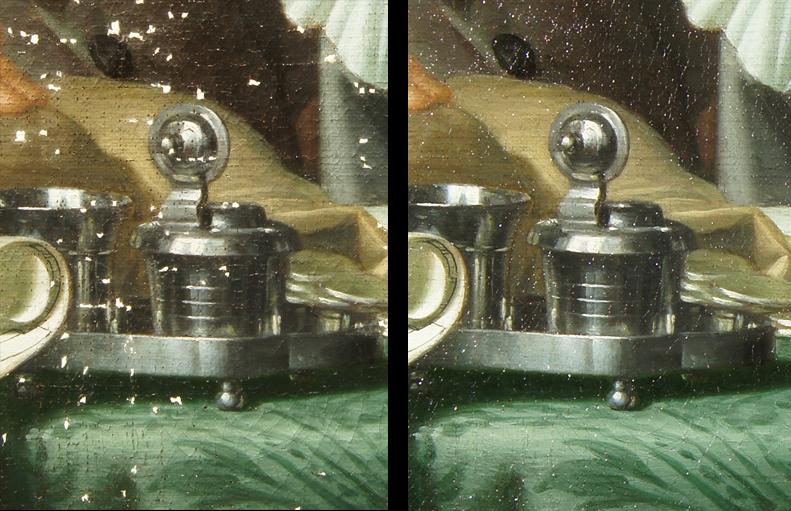 diensten schilderijenrestauratie - vullen van lacunes en retoucheren