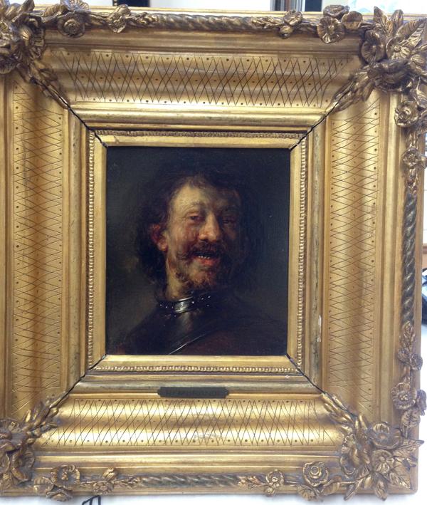 kopie lachende man Rembrandt