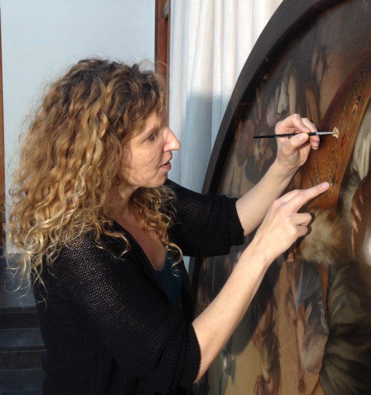 schilderijenrestaurator Lousco Grasman van Restauratieatelier Haarlem