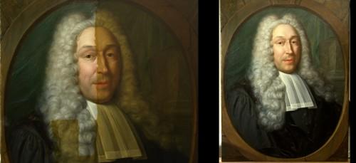 17e eeuws Mansportret - tijdens en na vernisafname