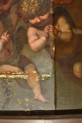 Actueel - restauratie altaarstuk Barend Graat - Detail halverwege vernisafname -kl