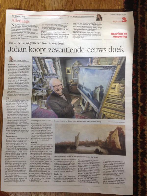 restauratie schilderij Gezicht op Haarlem
