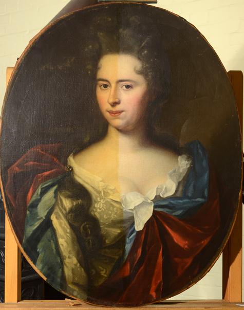 vernisafname restauratie damesportret